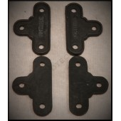 1928 / 29 FORD HOOD LATCH BUMPER SET - SET OF FOUR