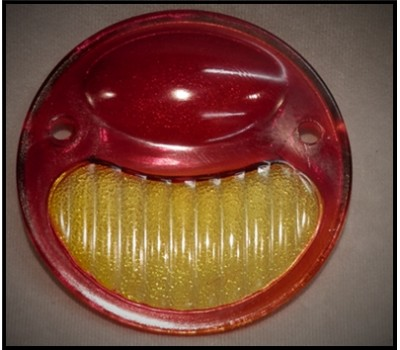 1928 / 31 FORD TAIL LIGHT LENS ONLY - RED - AMBER