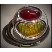 1928 / 29 FORD TAIL LIGHT ASSEMBLY- DELUXE - RED / AMBER