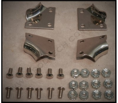 1928 / 31 FORD HOOD LATCH CLIP SET - STAINLESS STEEL