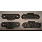 1930 / 31 FORD HOOD LATCH PADS - 2 HOLE - SET OF FOUR