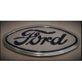1931 FORD GRILLE SHELL EMBLEM - CHM - BLUE LETTERING