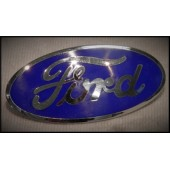 1932 FORD GRILLE SHELL EMBLEM - FORD OVAL- BLUE