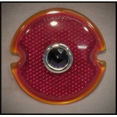 1933 / 36 FORD TAIL LIGHT LENS ONLY - RED - BLUE DOT