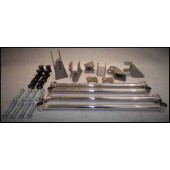 32 FORD REAR 4 BAR KIT - STAINLESS STEEL POLISHED - 4 BARS ADJUSTABLE - PARALLEL - KIT INCLUDES ALL PARTS REQUIRED