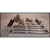 34 FORD REAR 4 BAR KIT - STAINLESS STEEL POLISHED - NON ADJUSTABLE - PARALLEL - KIT INCLUDES ALL PARTS REQUIRED