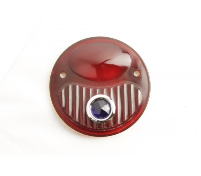 1928 / 31 FORD TAIL LIGHT LENS ONLY - RED - BLUE DOT