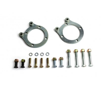 FRONT BRAKE CALIPER MOUNTING PLATES & BOLT KIT TO SUIT HQ CALIPER - SUIT 37-48 STUBS