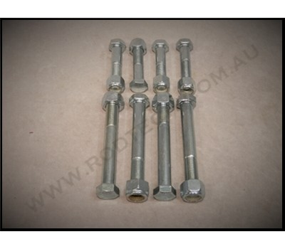 FRONT FOUR BAR BOLT KIT & NYLOC NUTS - HIGH TENSILE