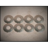 "FRONT FOUR BAR  9/16"" WASHERS  - POLISHED STAINLESS STEEL SET OF 8"