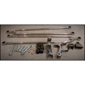 32/34 FORD HAIRPIN STYLE KIT - STAINLESS STEEL POLISHED INCLUDES - Bars, chassis brackets, bushes, bat wings, adjusters, bolts nuts and washers.