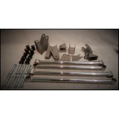 32 FORD REAR 4 BAR KIT - STAINLESS STEEL POLISHED - 4 BARS ADJUSTABLE - TRIANGULTED - KIT INCLUDES ALL PARTS REQUIRED