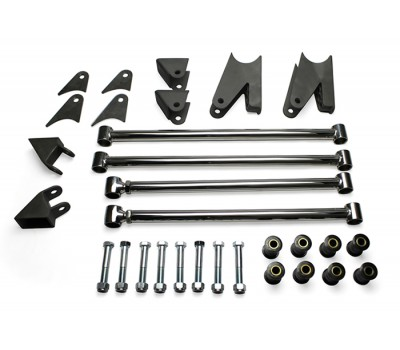 34 FORD REAR 4 BAR KIT TRIANGULATED -- STAINLESS STEEL