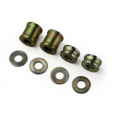 COIL OVER SHOCKS SPACER SET - MILD STEEL - SET OF FOUR (2 WIDE 2 NARROW) INC WASHERS