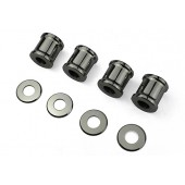 COIL OVER SHOCKS SPACER SET - STAINLESS STEEL POLISHED - SET OF FOUR WIDE INC WASHERS