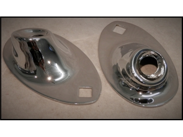 1933 Ford Headlights : Ford headlight stands chopped chromed